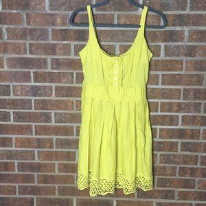 Anthro Jack BB Dakota Yellow Citrine Crochet Dress